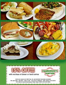 Happy Holidays, Thanks for 34 years of business :-) 15% - Off Valid though Dec 31 2016 https://www.fishmongersplano.com/